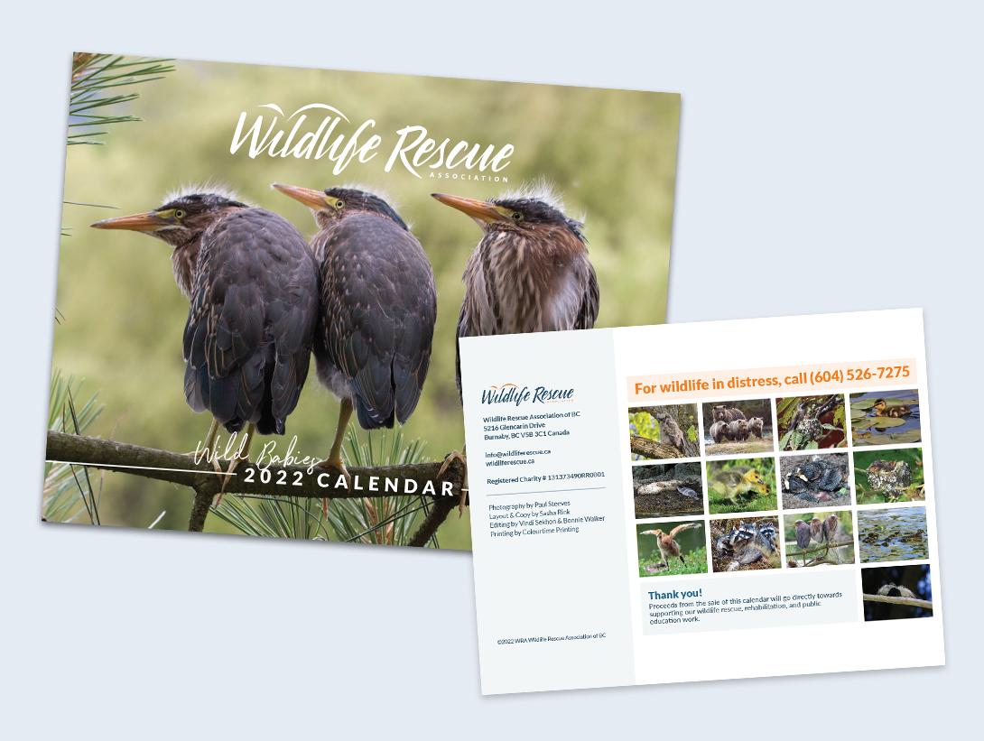 Pre-Order your 2022 Wildlife Calendar Now!